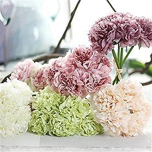 JJH Artificial Flowers 1Pcs Branch Silk Polyester Peonies Tabletop Flower 33