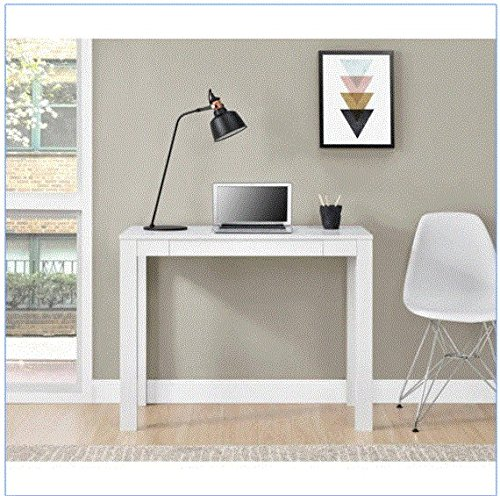 NEW Parsons Desk with Drawer, Multiple Colors (White)