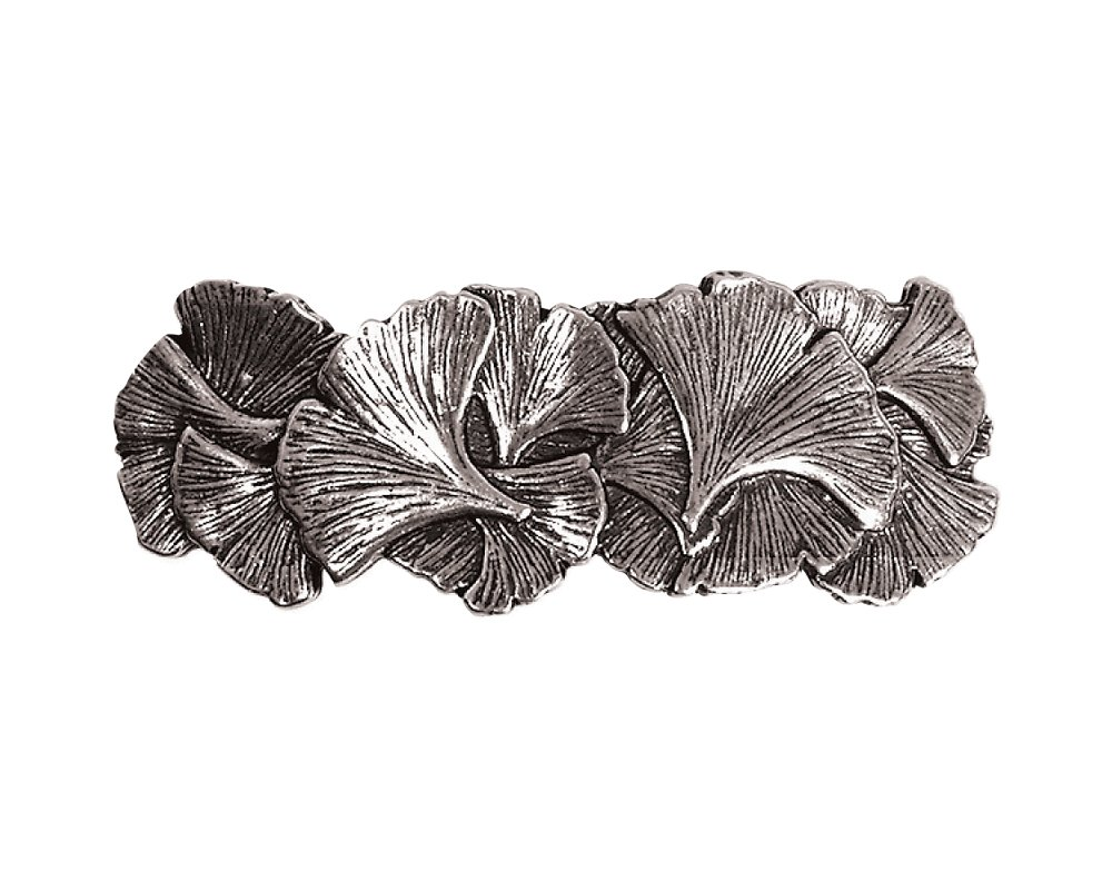 Ginkgo Hair Clip - Hand Crafted Metal Barrette Made in the USA with imported French Clips By Oberon Design …