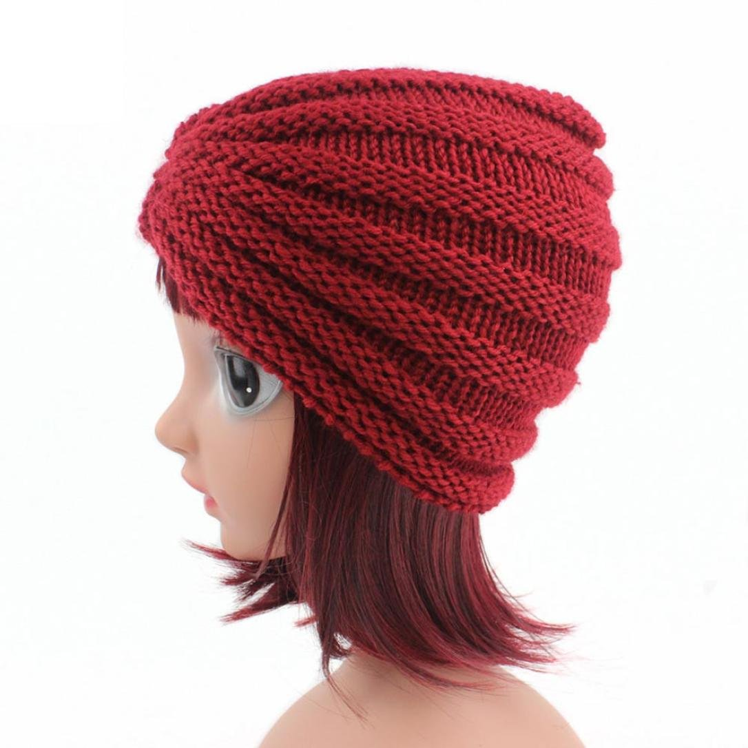 Botrong/® Children Baby Girls Soft Knitting Hat Beanie Turban Head Wrap Cap Pile Cap