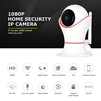 Drahtlose 1080P-Sicherheitskamera Wifi Home Monitoring IP-Kamera ...