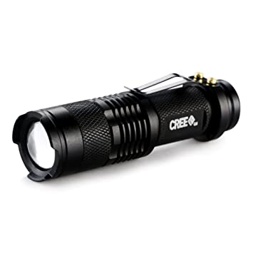 Fashion Outlet Black Mini 400-lumen Bright CREE Q5 LED Adjustable ...