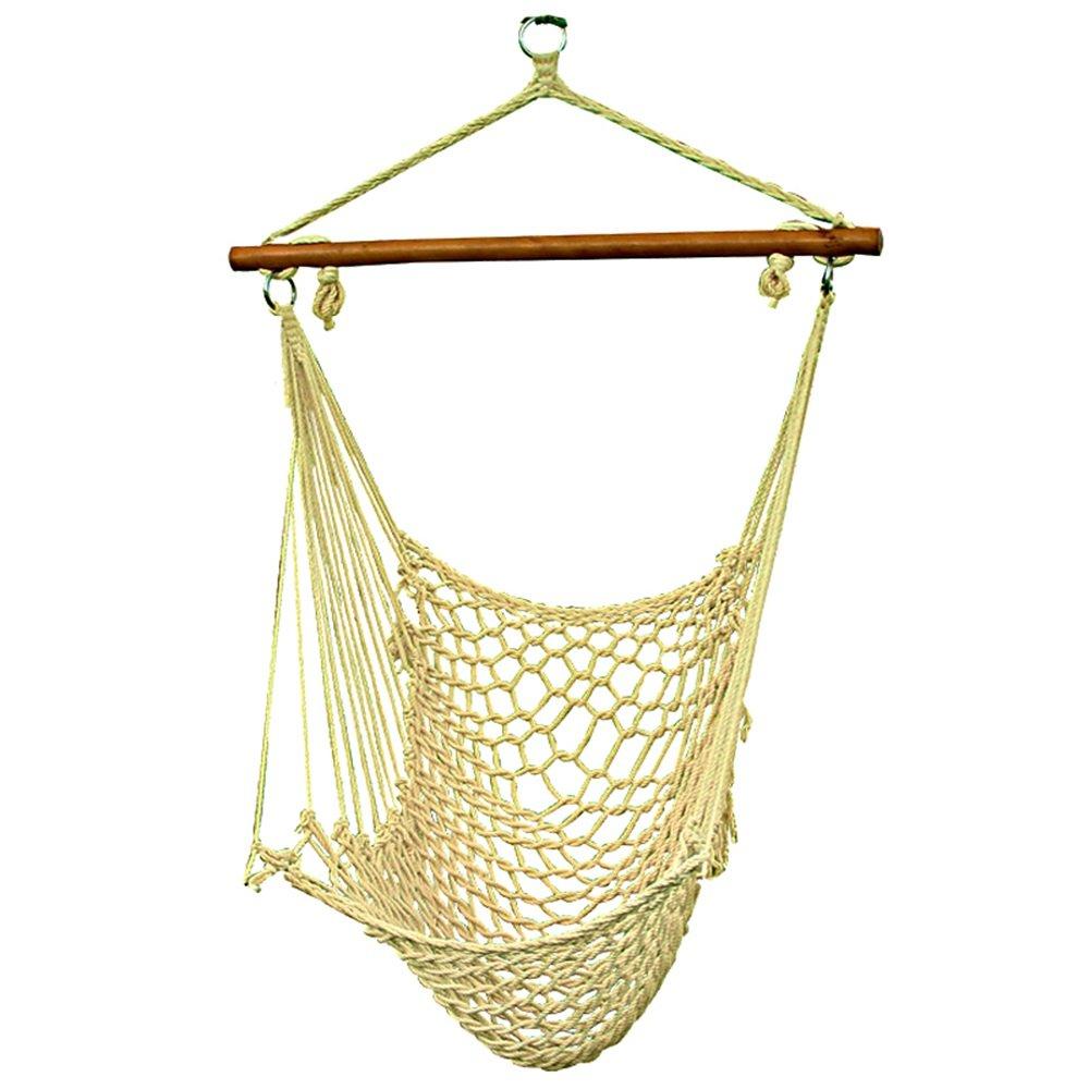 QFFL diaochuang ハンモック純粋なコットンの子供吊り椅子カラフルなナイロンスイング屋外の単一の快適なハンモックハンギングバスケット (サイズ さいず : 47*60*110CM) B07DGCJBSD   47*60*110CM