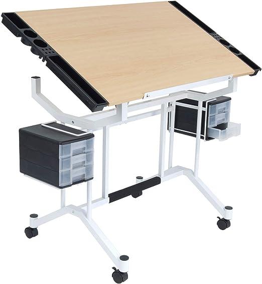 MRT SUPPLY - Mesa de Trabajo para Manualidades, Ajustable, Color ...