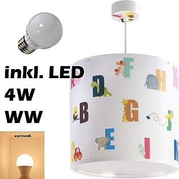 Led Kinderzimmer Lampe Hängeleuchte Decke Abc 72272 Warmweiß