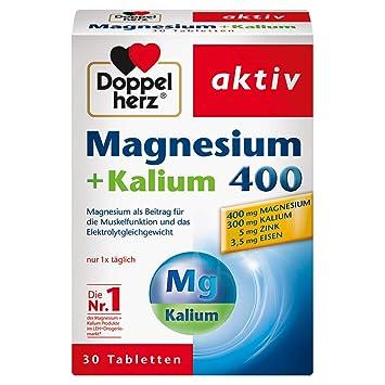 Doppelherz Magnesio+Potasio, 30 Piezas: Amazon.es: Salud y cuidado personal