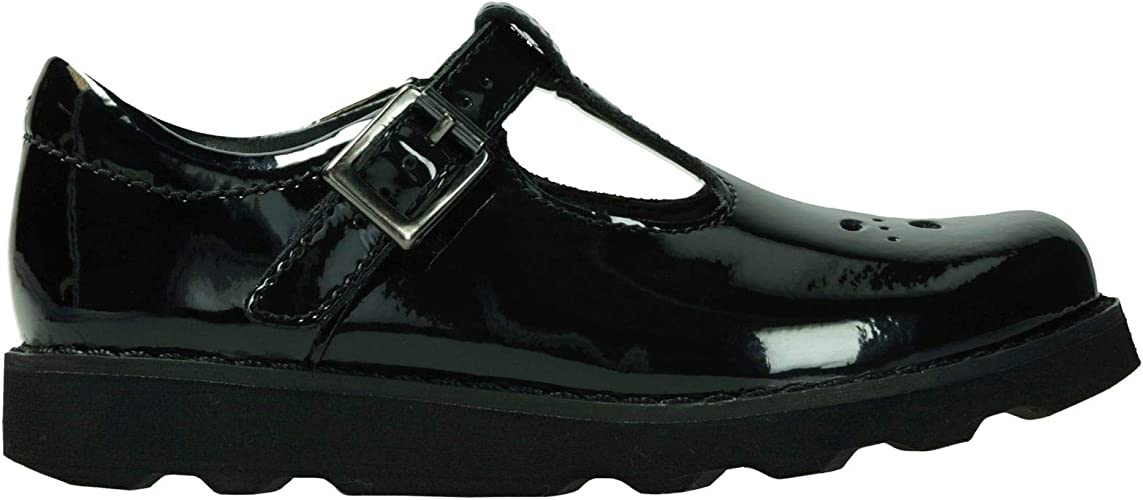 Acostumbrados a cuestionario al revés  Clarks Crown Wish Kid Patent Shoes in Black Patent Narrow Fit Size 9:  Amazon.co.uk: Shoes & Bags