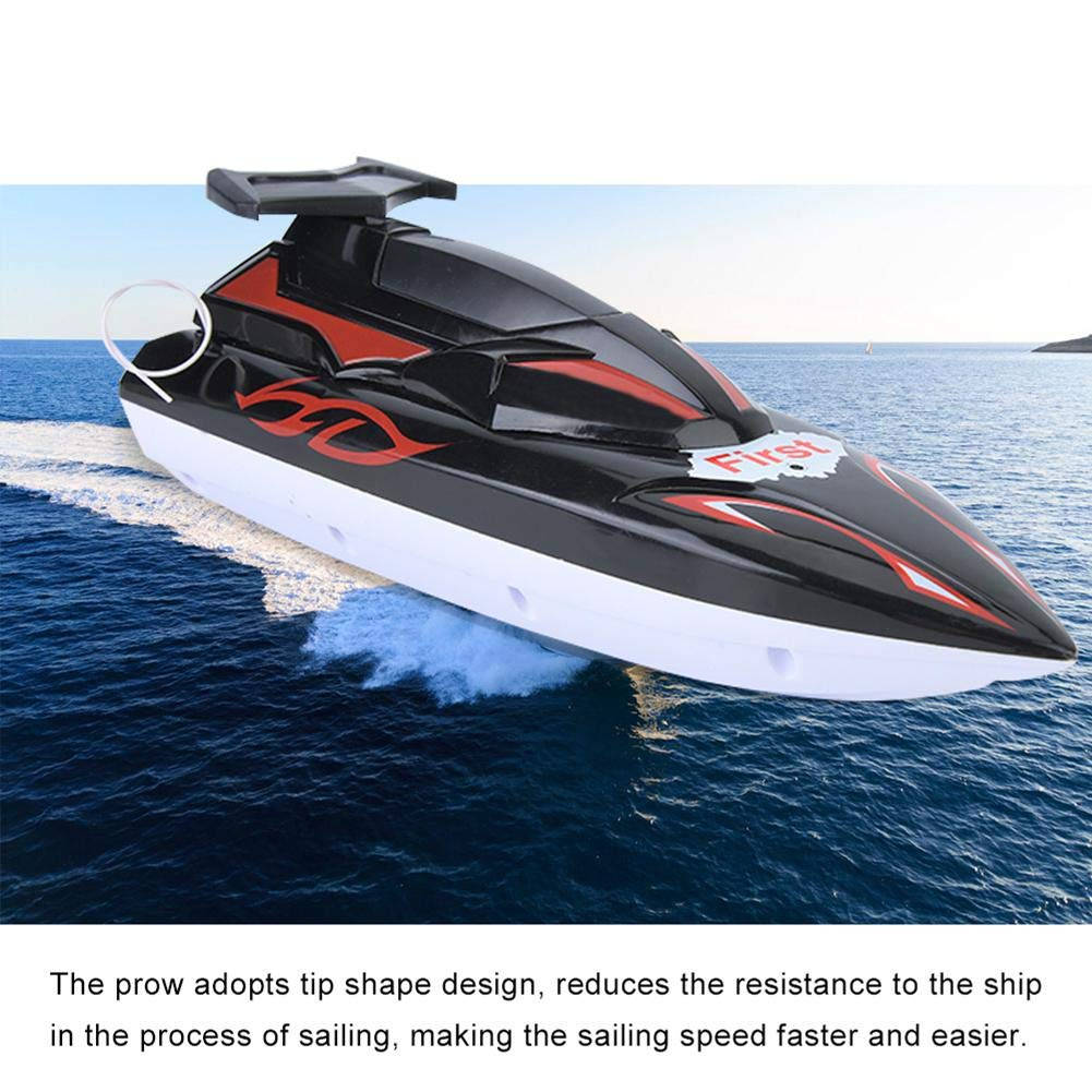 Tnfeeon Remote Control Water Speed Boat RC Radio Controlled Boats Orange High Speed Rc Toy for Adults and Kids Pools and Lakes Outdoor Adventure