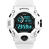 Digital Watch Mens Sports Watch Military Watch with Waterproof Function and Alarm Clock