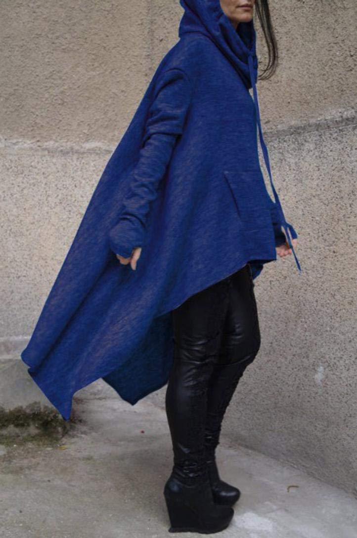 Rambling New Women's Pullover Irregular Hem Long Drawstring Loose Hoodie Top Dress by Rambling (Image #1)