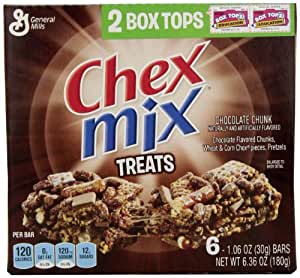 Chex Chex Mix Treats, Chocolate Chunk, 6.36-Ounce (Pack of 6)