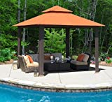 Savannah 10 Ft. W x 10 Ft. D Gazebo Color: Rust For Sale