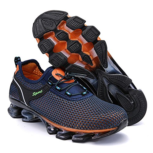Deslizamiento Al Zapatillas Running Mesh Deporte Oscuro Aire ALIKEEYMens Walking En Light Libre Sneaker Athletic De Azul 7xFqwdY