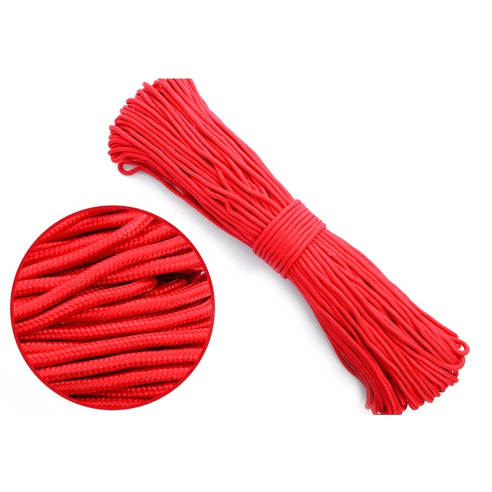ROSENICE Nylon Twisted Braided Rope 100m for Camping Gardening DIY Project 4mm (Red) by ROSENICE