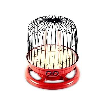 Calentador de espacio, 800W portátil pájaro jaula estufa eléctrica, 2 termostato de velocidad multi