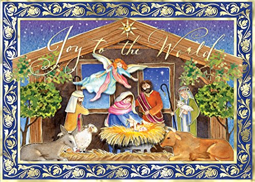 Punch Studio Winter Nativity Dimensional Holiday Boxed Cards -- Set of 12]()