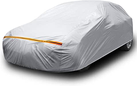 """Ohuhu Car Cover for Sedan 191""""-201"""", Upgraded Car Covers Universal Auto Vehicle Cover for Sedan - Windproof. Dustproof. UV Protection. Scratch Resistant"""