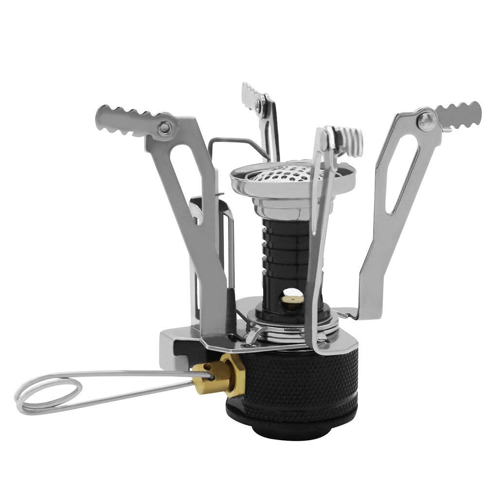 J&T Camping Stove Burner Ultralight Backpacking Gas Butane Propane Canister Outdoor