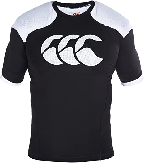 Canterbury Mens Vapodri Raze Pro Vest Body Armour Rugby Sport Shoulder Pad Black
