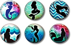 Cute Locker Magnets For Teens - Magical Mermaid Magnets - Fun School Supplies - Whiteboard Office or Fridge - Funny Magnet Gift Set (Mermaids1)