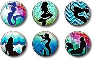 Cute Locker Magnets For Teens - Magical Mermaid Magnets - Fun School Supplies - Whiteboard Office or Fridge - Funny Magnet Gift Set (Mermaids1)