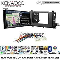 Volunteer Audio Kenwood DNX874S Double Din Radio Install Kit with GPS Navigation Apple CarPlay Android Auto Fits 2011-2014 Non Amplified Toyota Sienna
