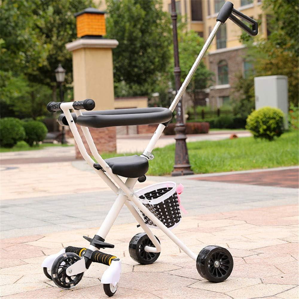 Bike Lee Portátil del Triciclo del bebé Cochecitos Carro para niños de 2~5 años del niño de la Compra de Moto Trike manija Ajustable para Padres