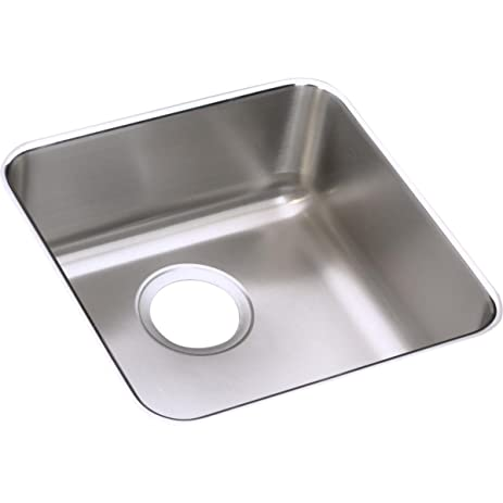 Medium image of elkay lustertone eluhad121255 single bowl undermount stainless steel ada kitchen sink