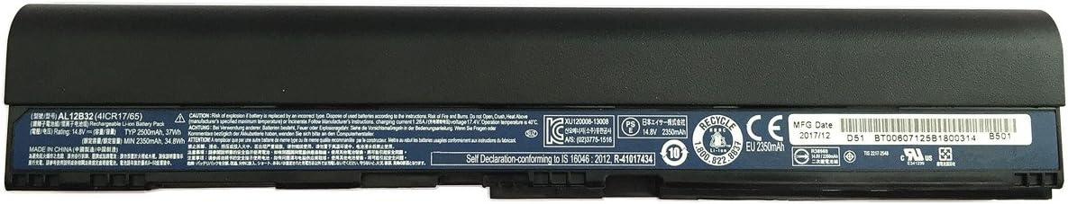 7XINbox 14.8V 2350mAh Repuesto Batería para Acer AL12B32 AL12B31 AL12B72 AL12X32 AL12A31 Aspire One 725 756 Chromebook C710 KT.00403.004 AK.004BT.098 Aspire V5-121 V5-131 V5-123