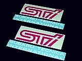"(2x) 5.75"" 14.6cm Subaru STi fog light cover Decal"