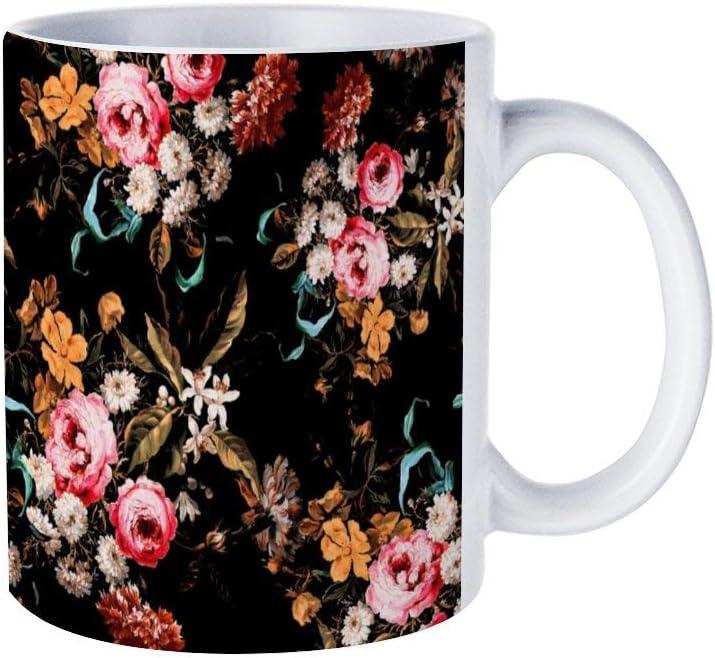 ceramic coffee/tea cup gift, Midnight Garden Funny Morning Coffee mug, 11 OZ