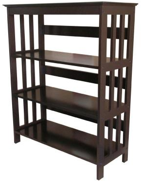 Home Decorators Collection 3-Shelf Bookcase in Espresso-R5416 ES - The Home Depot