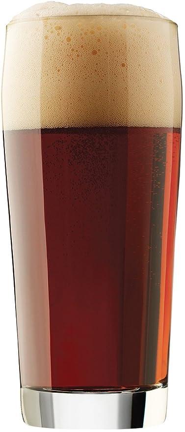 Circleware Juego de 4 vasos de cerveza 20 oz pinta vidrio con Heavy parte inferior.