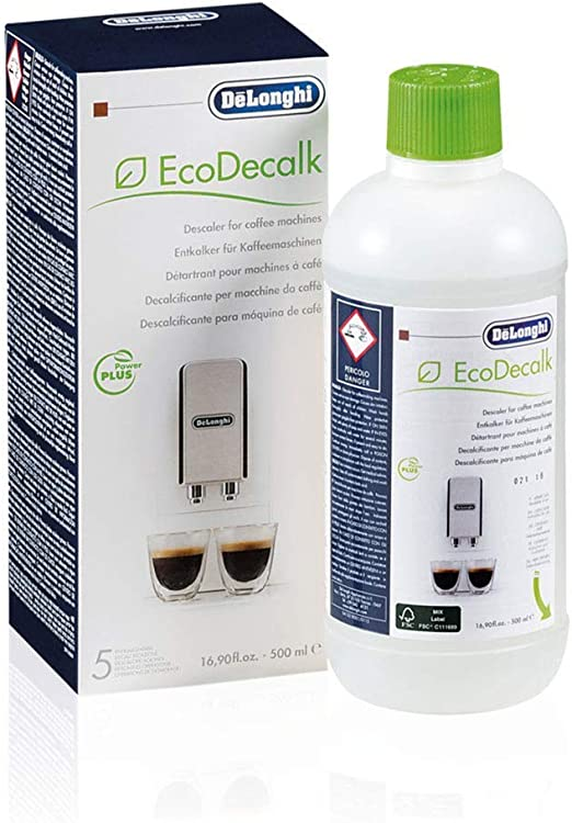 DeLonghi EcoDecalk Descaler, Eco-Friendly Universal Descaling Solution for Coffee & Espresso Machines, 16.90 oz (5 uses)