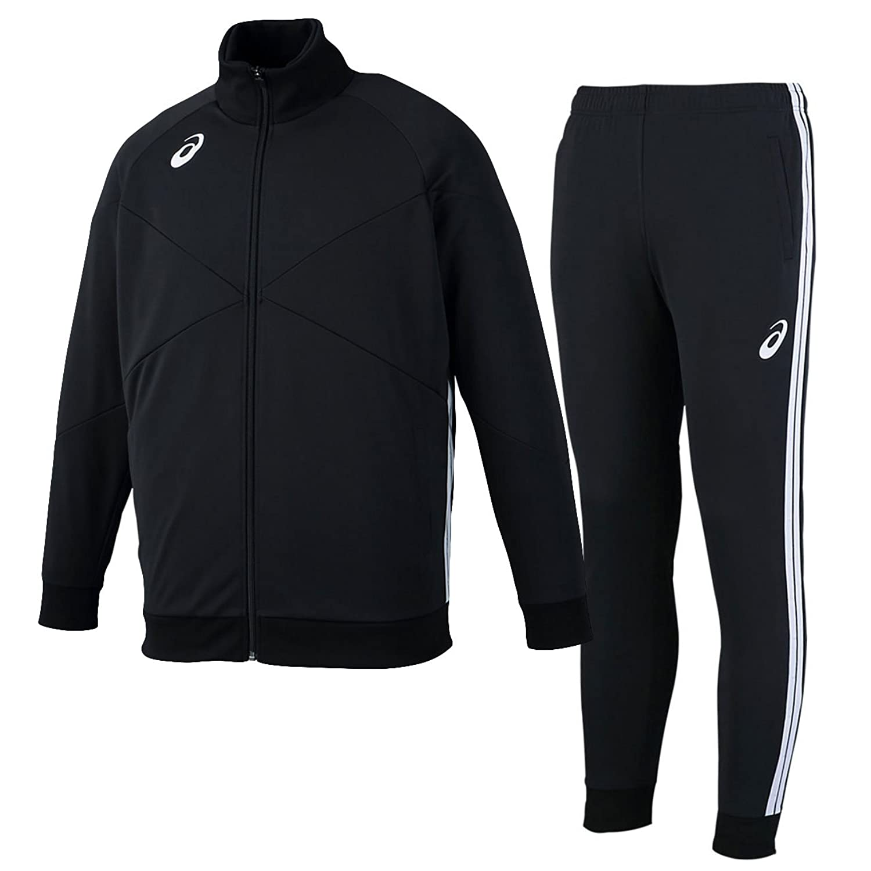 アシックス(asics) トレーニングジャケット&トレーニングパンツ 上下セット(ブラック/ブラック) XST184-90-XST284-90 B079TMZXVLブラック/ブラック XX-Large