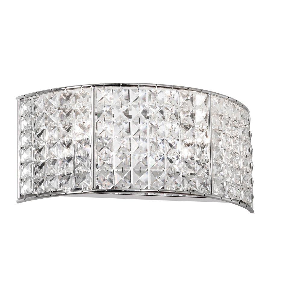 Dainolite照明v677 – 2 W-pc Dainolite照明クリスタル2ライトバスルームライト、ポリッシュクローム B005S4N6K4