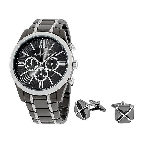 Inglés lavandería reloj para hombres Gemelos Giftset elwn5434b675: Amazon.es: Relojes