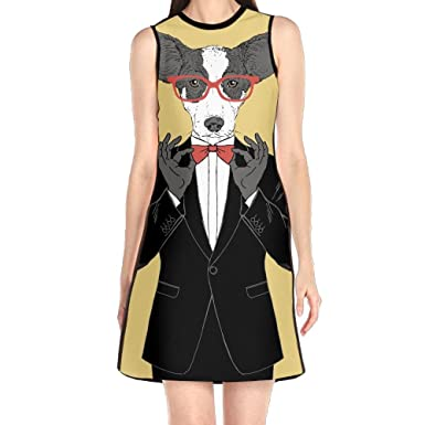 Hakalala Girls Dress Mini Dress Funny Dog Women Dresses Formal