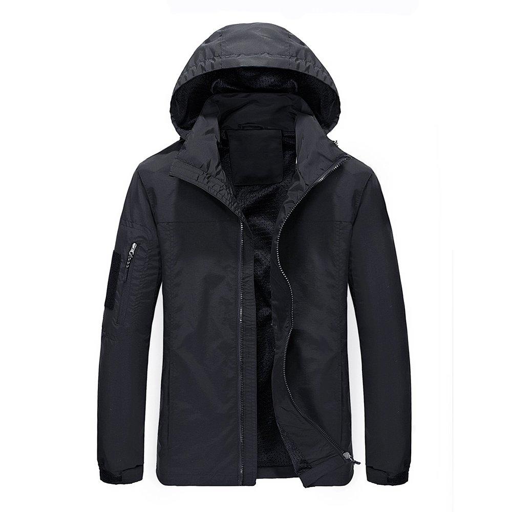WULFUL Men's Causal Jacket Windproof Outdoor Sportswear Lightweight Windbreaker Jacket with Hood