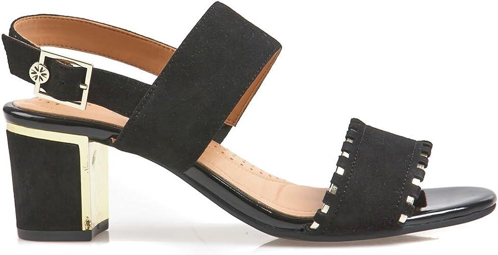 Satellite Wedge Heels Sandals, Black