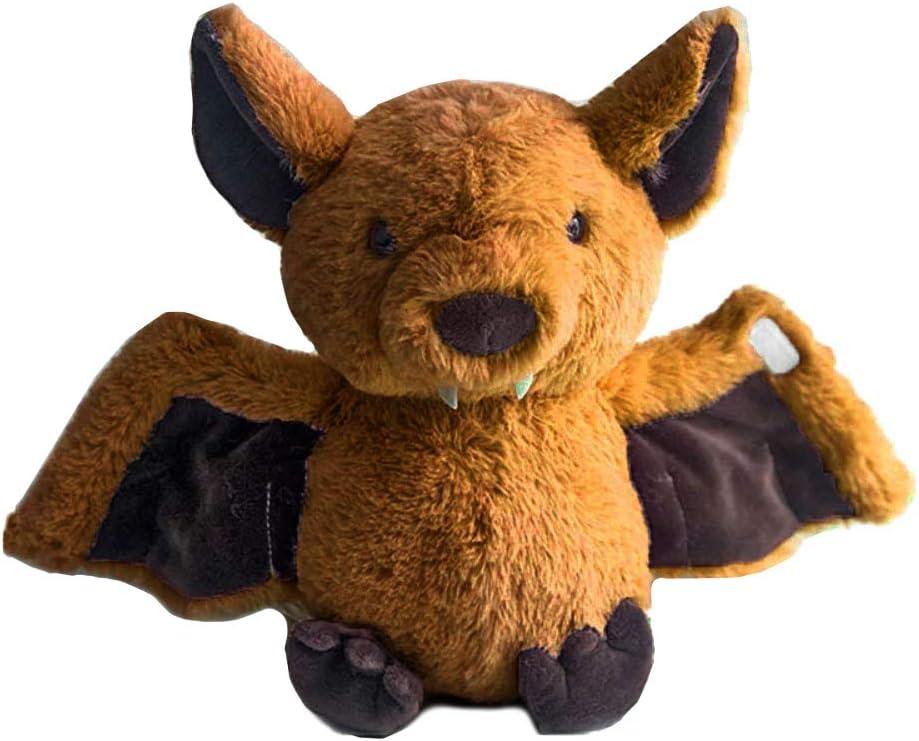 Rainlin Plush Bat Stuffed Animal Bashful Toys Furry Gifts for Kids Brown 11 inches