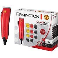 Remington HC5038 ColourCut - Cortapelos Edición Manchester United, 16 Accesorios, Acero Inoxidable, Rojo y Negro