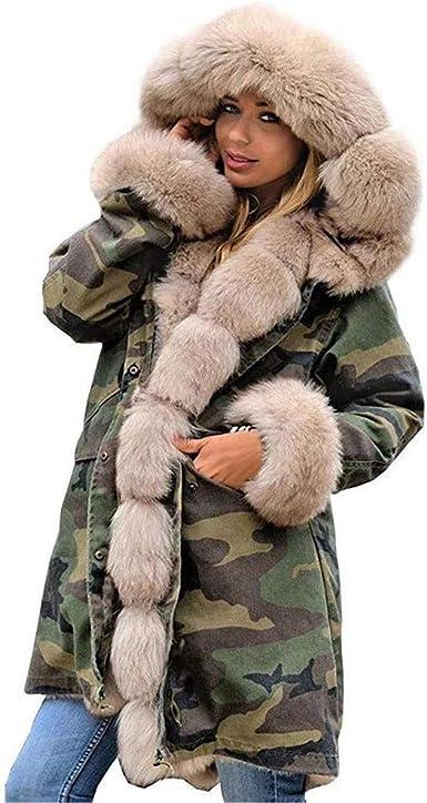 Womens Short Parka Fashion Fur Hooded Thicken Jacket Winter Warm Outwear Coat