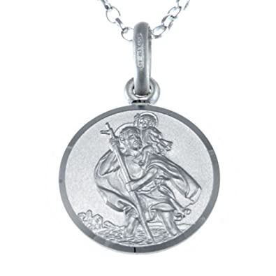 Sterling silver st christopher pendant with 18 chain and jewellery sterling silver st christopher pendant with 18quot chain and jewellery mozeypictures Image collections