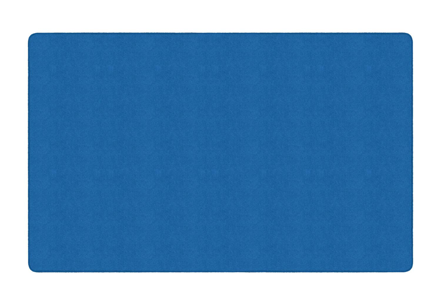 Flagship Carpets AS-44RB Americolors Collection 7'6'' x 12' Rectangle, Solid Royal Blue Colored Carpet, Double Stitched, Serged Edges, Made in USA