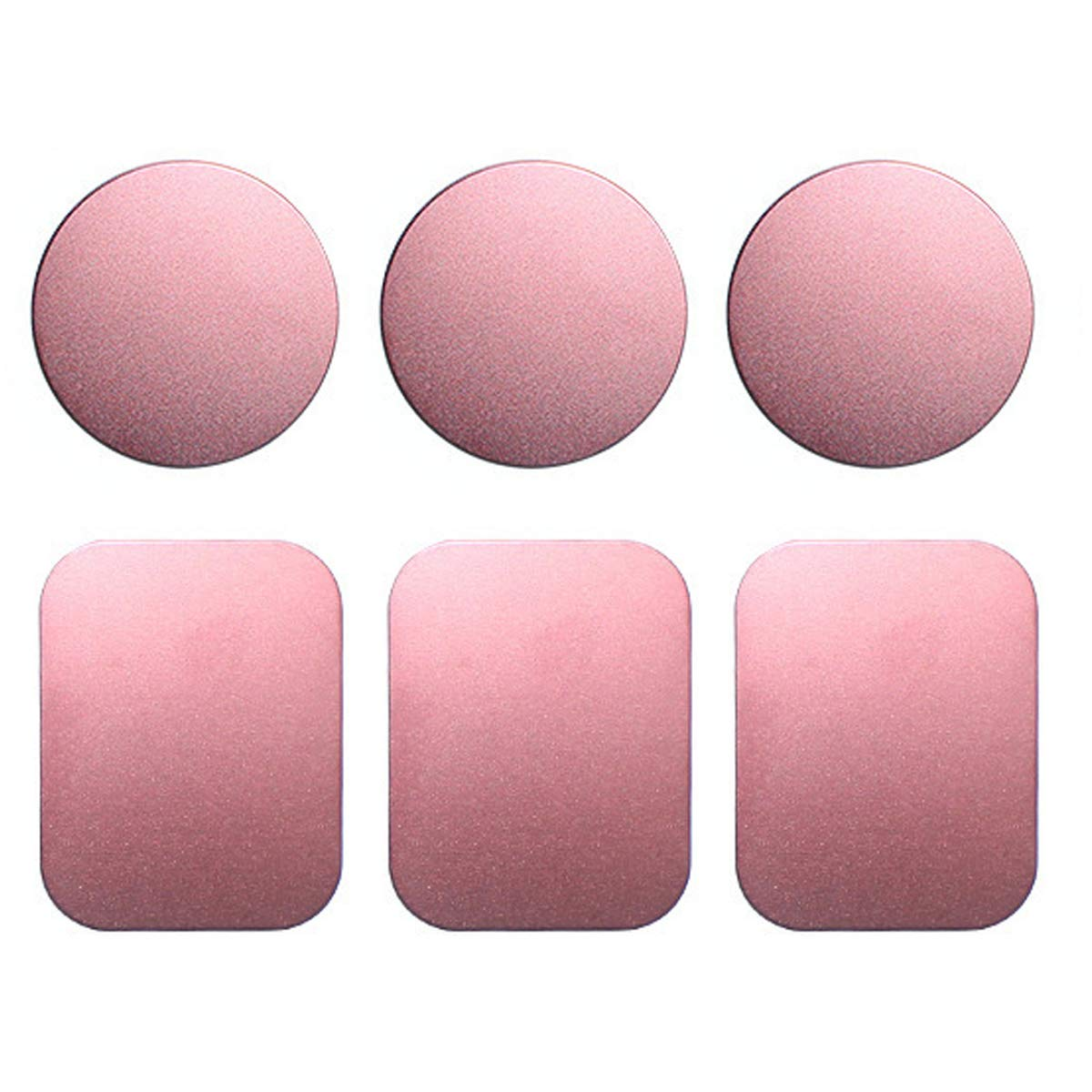 Pink Magnet Phone Holder Metal Plate 6 Pack Plates Plates for Magnetic Car Cradle Wide Compatibility Strong Stickiness