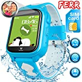 [Free SIM Card] Kids Smart Watch - Waterproof Smart Phone Watch Call Anti-Lost 1.44'' Touch Screen Alarm Flashlight Activity Sport Wearable Birthday Gifts for 3-12 Year Boys Girls