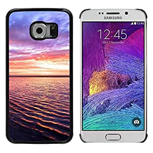 LECELL -- Funda protectora / Cubierta / Piel For Samsung Galaxy S6 EDGE SM-G925 -- Sunset Beautiful Nature 93 --