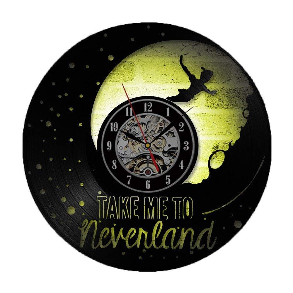 Reloj de pared con diseño de Peter Pan, creativo placa de ...