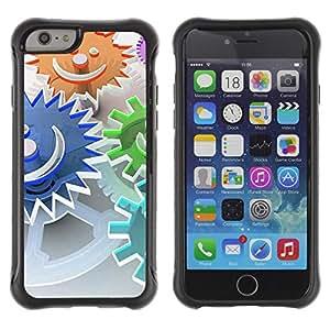 Desconocido All-Round híbrido de goma duro caso cubierta protectora Accesorio Gerneration-II Compatible con Apple iPhone 6(4,7')–Abstract Smiley